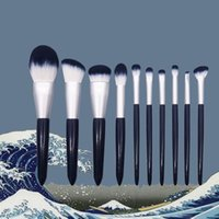 Makeup Brushes Professional Cosmetic 10 Pcs Synthetic Hair Set Eye Face Cosmetics Brush Fluffy Beauty Tools