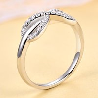 Fashion Tonglin in Europe and America Ring S925 Sterling Silver Artificial Diamond Wedding Ring Gang Drill Infinity Symbol Silver R