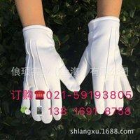 mitaines de devoir antidiskid chaud hiver peluche de peluche blanc gants de sécurité hommes et femmes
