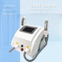 IPL Láser Máquina de depilación Portátil SHR Piel Rejuvenecimiento Equipo de rejuvenecimiento zafiro puro Enfriamiento Elight RF Care facial