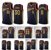 Personalizado 2021 homens 1 Lee 30 Curry 22 Wiggins 2 Mannion 11 Thompson 12 Oubre Jr. 10 Wanamaker 20 Bazemore 33 Wiseman 7 Paschall Basketball Jersey