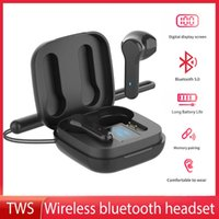 Headphones & Earphones TWS Bluetooth Earphone With Lanyard LED Battery Indicator Touch Control HIFI Stereo Wireless For Sports
