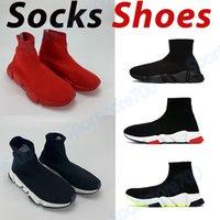 Plataforma Clássica Mens Calçados Casuais Meias Sneaker Triplo Vermelho Vermelho Vermelho Verde Formadores Estilista Moda Homens Mulheres Ao Ar Livre Chaussures US 6-12