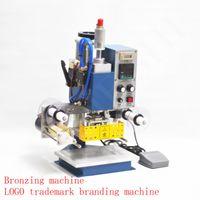Máquina de impressão pneumática 130 * 100mm, couro da impressora, vince, folha de estampagem da folha quente que marca a marcação 220V 400W