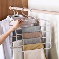 Hangers & Racks 5 Layer Non-Slip Pants Storage Adult Silk Scarf Tie Towel Hanger Rack Trousers Wardrobe Pantry Bedroom Finishing