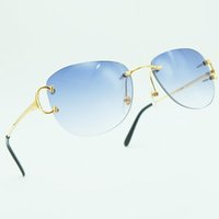 Metal 2021 Square Big C Luxury Mens Desinger Sunglass Glasses Sunglasses Sun Rimless Carter For Shade Brand Men Jlkdq