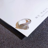 일본과 사우스 그물 레드 스크류 검지 손가락 반지 틈새 마이크로 상감 다이아몬드 꼬리 개성 절묘한