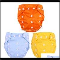 3 قطع قابل للغسل حفاضات الطفل قابلة لإعادة الاستخدام حفاضات القماش قابل للتعديل ل 1 قطعة الأصفر diape spp78 bzlu7