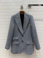 Milano pist palto 2021 yaka boyun uzun kollu kadın palto tasarımcı mont marka aynı stil ceketler 0520-10