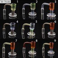 Colored Regular Quartz Spinning Banger Smoking Hookahs 10mm 14mm 18mm 20mmOD Nails For Glass Bongs