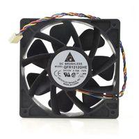 팬 냉각 QFR1212GHE 12V 6000RMP 2.7A 120mm 12038 120 * 120 * 38mm 4-Wire PWM Speed Control Server 냉각 광부 PC 팬