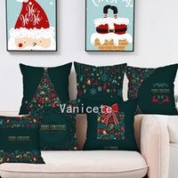 Weihnachtskissenbezug Grüner Druck Sofa Kissenbezug Pfirsich Skin Home 11style T2I52475