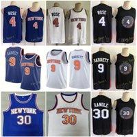 Ville gagné Edition RJ R.J. 9 Jerseys de basketball Barrett Derrick 4 Rose Julius 30 Randle Hommes Couverte taille S-3XL