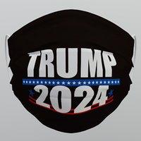 US STOCK DHL Trump 2024 Masque de visage lavable réutilisable Masque non tissé anti-poussière anti-poussière masque respirant en gros 1129 v2