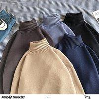 Privathinker winter warme männer turtkragen fest farbe koreanische mann lässig stritter pullover harajuku männliche pullover