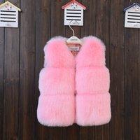 Детская детская куртка 2019 осень зима детские пальто высокого качества искусственного шуба верхняя одежда малыша детские девушки зима теплая меховая куртка жилет 751 v2