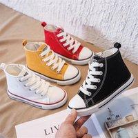أحذية الأطفال أحذية الفتيات قماش أحذية 2021 الخريف جديد طفل الفتيان عارضة أحذية الأطفال عالية أعلى الأطفال حذاء
