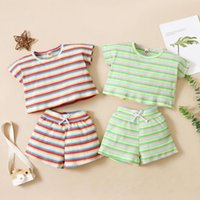 Clothing Sets Born Baby Girl Clothes Summer Outfit Set Toddler Boys Stripes Short Sleeve Two-piece For