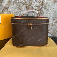 M42265 Makeup Bag Дизайнер Косметические Туалетные Изделия Чехол Женщины Старый Цветочный Модный Сумка Плеча Высокого класса Бренд с коробкой
