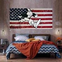 La peinture à l'huile de drapeau national sur toile Décor à la maison Personnalisation de l'art mural à la main / imprimé HD-Print est acceptable 21050125