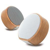 Altavoz Bluetooth inalámbrico de grano de madera Portátil Mini subwoofer o Soporte de altavoz estéreo TF AUX USB altavoces