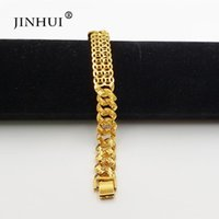 Link, Chain Jin Hui Fashion African Ethiopia Gold Color Men Bracelet Women Party Ornament Luxury Gifts For Friends Dubai Bangle Jewelry
