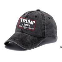 Trump Hat 2024 U.S Élection présidentielle Capuchon de baseball Capuchon de la Partie Faire de l'Amérique Great Breint Sports Black Coton Sports Caps HWD8543