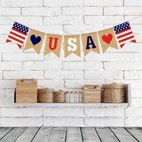USA Swallowtail Banner Independence Day Saite Flaggen USA Buchstaben Bunting Banner 4. von Juli Party Dekoration 1363 v2