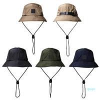 New Fashion Bucket Hat Foldable Fisherman Hat Unisex Designer Outdoor Sunhat Hiking Climbing Hunting Beach Fishing Hats Men Draw String Cap