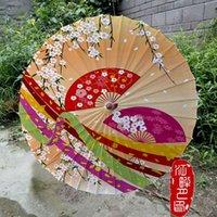 Paraguas estilo japonés papel recto paraguas cherrely bodas de mango largo parasol niños adulto baile