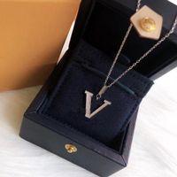 الموضات المرأة قلادة القلائد المعادن قلادة الأزياء رسائل الماس النساء مجوهرات هدية زوجين بالجملة