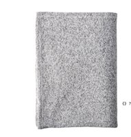 Sublimation Blankets 50*60 Gray Thermal Transfer Blanket Customize Blank Rugs DIY Sofa Cover Soft Carpet SEA WAY HHF7132