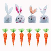 Gift Wrap 20   Batch Carrot Ear Biscuit Bag Candy Snack Baking Packaging Supplies Easter Decoration