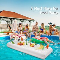 Pool & Accessories 53.1 X 25.6'' Inflatable Ice Serving Buffet Bar Fruit Containers Floating Tray BBQ Picnic Party Supplies Cooler