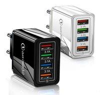 3.1A Быстрое адаптер питания USB Зарядное устройство 4USB Порты Adaptive Wall QC3.0 Быстрая зарядка Путешествия Универсальный EU US Plug Pack