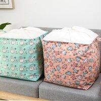 Stoffwäschekorb Aufbewahrungsboxen Tasche Großkapazität Strahl Mund Design Trockenwasserdicht staubfestes sicherer geruchlos gesunden atmungsaktive faltbare zjhp0873