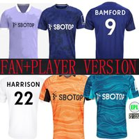 21 22 LEEDS SOCCER JERSEYS United Fans Player Version 2021 T Roberts Harrison Hernandez Costa Bamford Alioski Clarke 2022 Hommes Kit Kit De Chemise Enfilateurs de gardien de but