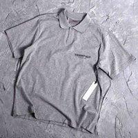 CH Crosin H / Küpe / Krom Crosin Fabrikası Tanrı Hissedesi Sis Essentials Çift Çizgi Gevşek Yüksek Sokak Kısa Kollu Tişört Polo Gömlek Moda Kepek