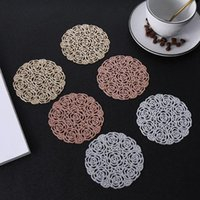 Mats & Pads Hollow Pattern Useful Heat-insulated Bowl Place Mat Eco-friendly Drink Household For Restaurant