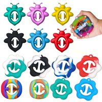 Rainbow Fidget Grab Snap Squeeze Toy 10 bandhnu Hand Snappers Hands Strength Grip Grabs Squeezy Sensory Toys Autism Stress Relief
