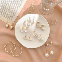 925 Silver Needle Korean Elegant Pearl Earrings 2020 New Popular Net Red Long Tassel Earrings Heart-Shaped Earrings