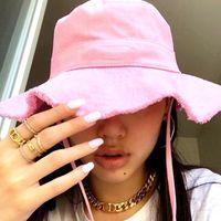 Kadın Yaz Le Bob Artichaut Kova Şapka Geniş Ağız Şapkalar