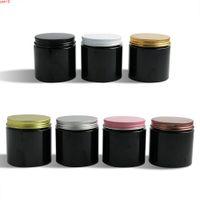 20 x 200g Reise leerer schwarzer PET-Gläser mit Aluminium-Schrauben-Deckel 200g 200cc-Creme-Creme-Kosmetik-Container VerpackungGoods Menge