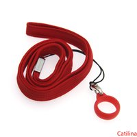 Lanyard clips necklace case string neck rope chain strap with 14mm-17mm silicone ring for disposable vape pen e cig pod kit flat battery