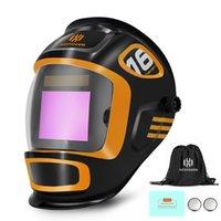 HZXVogen auto soldadura capacete escurecendo cor verdadeiro máscara de solda grande vista grande