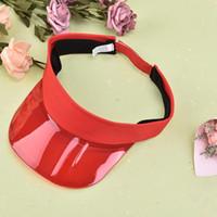 Ampla Brim Chapéus Mulheres Verão UV Proteção Sol Viseira Plástico Chapéu Mulheres Sunhat Golf Sport Headband Cap