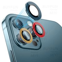 Camera Metal Circle Glass Lens Protector cases For iphone 13 12 11 Film Tempered Protective