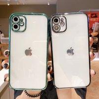 Adecuado para iPhone12 XS MAX XR 8 PLUS electrochaplating TPU Funda de teléfono móvil Agujero fino Apple 11PRO CUBO CUBIO RECTO DE FUENTE CUBIERTA DE PROTECCIÓN