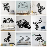 Wall Stickers Creative Road And Motor Cycle Sticker Decals For Living Room Decor Bedroom Kids Decal