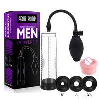 Erotic Sexy Product Vacuum Dick Extender Effective Penis Pump Enlargement Increase Length Enlarger Male Train Men Adult Sex Toys